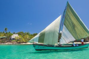 Sailing in Little Corn Island